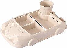 OMILEK Kinderplatte Auto ModellBambus Faser