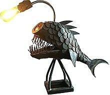 OMKMNOE Angler Hai Anglerfisch Lampe,
