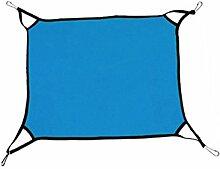 Omkuwl Polar Fleece weichen Hund Katze Hängematten Bett Tier hängenden Katze Käfig innen Schlafsack blau