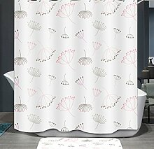 Ommda Duschvorhang Textil Wasserdicht Duschvorhang