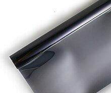 Ommda Fensterfolie Statisch Haftend Sonnenschutz Fensterfolie Blickdicht Von Aussen 97% UV-Schutz Schwarz 70x100cm