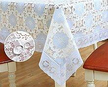 Ommda Tischdecke Abwaschbar PVC Blumen Tischdecke Lang Rechteckig Tischdeckenklammer Hochzeit 100X160 cm 046B