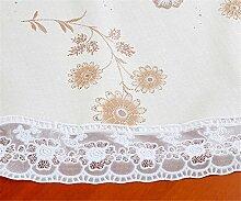 Ommda Tischdecke Abwaschbar PVC Blumen Tischdecke Lang Rechteckig Tischdeckenklammer Hochzeit 137X137 cm 122A