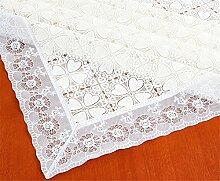 Ommda Tischdecke Abwaschbar PVC Blumen Tischdecke Lang Rechteckig Tischdeckenklammer Hochzeit 100X160 cm 030F