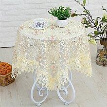Ommda Tischdecke Durchsichtig Abwaschbar Sticken