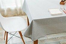 Ommda Tischdecke Leinen Abwaschbar Tischwäsche