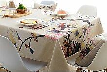 Ommda Tischdecke Leinen Tischdecke Abwaschbar Eckig Tischdecke Muster Pflegeleicht 60x60cm Pandurata