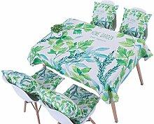 Ommda Tischdecke Leinen Tischdecke Abwaschbar Eckig Tischdecke Muster Pflegeleicht 140x200cm Pandurata mit 4 Stück Kissenbezug 45x45
