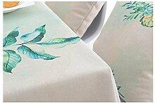 Ommda Tischdecke Leinenoptik Abwaschbar Tischdecke Wasserabweisend Muster Bunt Frühling Modern 85x85cm