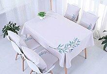 Ommda Tischdecke Leinenoptik Abwaschbar Tischdecke Wasserabweisend Tischwäsche Frühling Modern Hellgrau-lila 60x60cm mit 4 Stück Kissenbezug 45x45cm