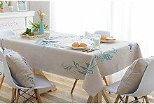 Ommda Tischdecke Leinenoptik Abwaschbar Tischdecke Wasserabweisend Muster Bunt Blumen Frühling Modern 85x85cm