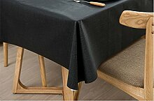 Ommda Tischdecke PVC Abwaschbar Leinenoptik Wasserabweisend Lang Rechteckig Pflegeleicht 140x200cm Tief Grau