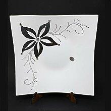 Omnia Casa Glasschüssel, dekoriert, Flower 30 x