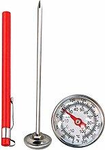 omufipw Edelstahl-Gartenbodenthermometer 127mm