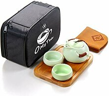OMyTea® Tragbares Reise-Tee-Set, 100 %