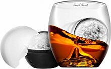 On the Rocks Whiskyglas mit Eisballform - Whisky Tumbler mit Eisballform