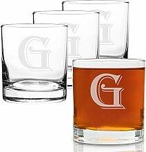 On The Rox 4-teiliges Glas-Set mit Gravur