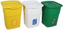 Ondis24 Abfallsammler Wetstoffsammler Mülleimer Sortierer Eco 3