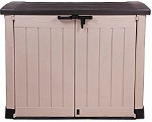 Ondis24 Gerätebox für Garten Mülltonnenbox Store It Out Arc beige braun
