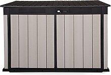 Ondis24 Grande Store XXL aus Duotec Gartenbox Gerätebox abschließbar Mülltonnenbox für 3 Mülltonnen oder Fahrräder 2020 Liter
