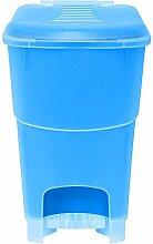 Ondis24 Mülleimer Abfalleimer Treteimer Koral 16 Liter blau/ transparen