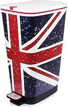 Ondis24 Treteimer Chic L Mülleimer Abfalleimer aus Kunststoff 45 Liter geruchsdicht (UK)