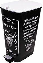 Ondis24 Treteimer Chic M Mülleimer Abfalleimer aus Kunststoff 25 Liter geruchsdicht (Coffee)