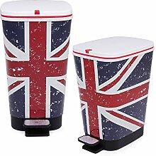Ondis24 Treteimer Chic Set 25 L + 45 L UK Abfalleimer Mülleimer aus Kunststoff geruchsdich