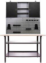 Ondis24 Werkstatteinrichtung 3 teilig Werkstatt Werkbank Werzeugschrank Euro - Lochwand mit Haken