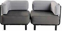 ONE BAR 2 Sitzer Sessel Dark Grey/Light Grey