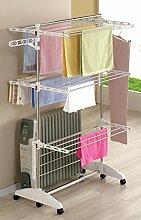 One Click Luxus Wäscheständer mit 3 Ebenen,