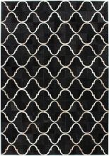 One Couture - Echtleder Teppich Flachgewebe