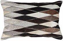 One Couture Kissen Patchwork Leder Handarbeit