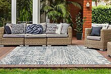 One Couture Outdoor Teppich Patchwork Ethno Design
