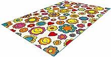 One Couture Teppich für Kinder, Blumenmuster,