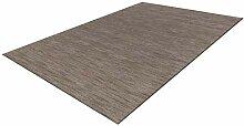 One Couture Teppich für Wohnzimmer, Grau, 100 %