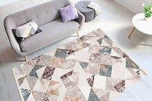 One Couture Teppich Modern Fransen Dreieck Design