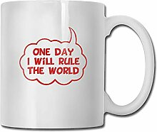 One Day I Will Rule The World Tea Cup Novelty Gift