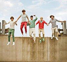 One Direction Jump Foto-Tapete 6-teilig - Fototapete Wallpaper 253x270cm. Beigelegt sind eine Packung Kleber und eine Klebeanleitung.