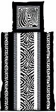 one-home 4 tlg Bettwäsche 155 x 220 cm Zebra