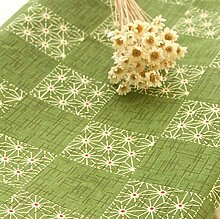 One Meter Baumwollgewebe Grün Pflanze Muster Tischdecke Patchwork Quilt Stoff Nähgutauflage 100x150cm