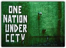 One Nation unter CCTV Metall Wandschild Kunst,