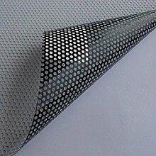 One Way perforiert MESH Fenster vinyl Sichtschutz Wrap Folie Blech mit einem schwarz Selbstklebende Rückseite 1.37m*5m(4.5ft * 16.5ft) schwarz
