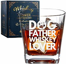 Onebttl Dog Dad Whiskey Glas, Dog Vater Old