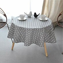 ONECHANCE Runde Tischdecke Baumwolle Leinen