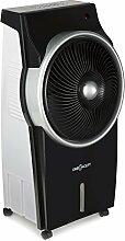 oneConcept • Kingcool • Luftkühler mit Wasserkühlung • Klimagerät • Ventilator • Luftreiniger • Ionisator • Oszillation • Bindung von Staub und Gerüchen • 3 Betriebsmodi • 8 Liter Wassertank • inkl Fernbedienung • 3 Leistungsstufen • Timer • schwarz