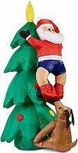 oneConcept Santa on Tree - aufblasbarer