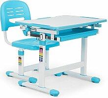 oneConcept Tommi • Kinderschreibtisch-Set • für Kinder 3-10 Jahre • zweiteilig • Tisch und Stuhl • neigbare Tischplatte • Kippwinkel 0 - 40° • Oberfläche ohne Blend- / Reflexionseffekte • blau