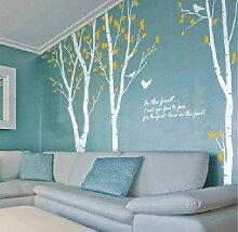 onehouse Birke Baum Wand Aufkleber Weiß Ast Baum mit Yellow Leaves Nature Baum Wand Schablone Kinder Baby Kinderzimmer Aufkleber Art Wand
