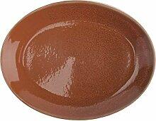 Oneida Cotta Porzellan-Teller, oval, rund, 27,9